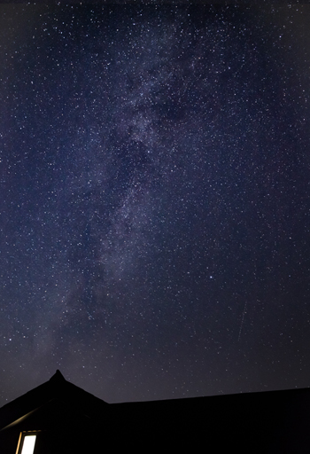 The Milky Way above Ty Gambo Holiday Cottage