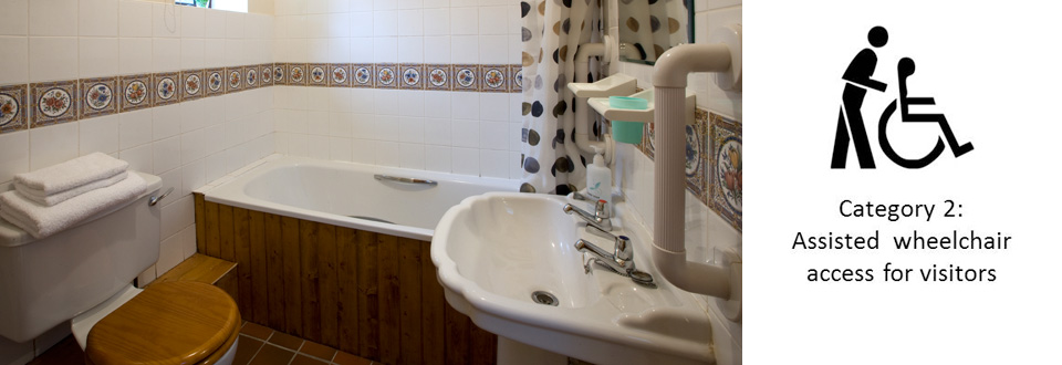 Bathroom in Bwthyn Y Saer Disabled Friendly Holiday Cottage