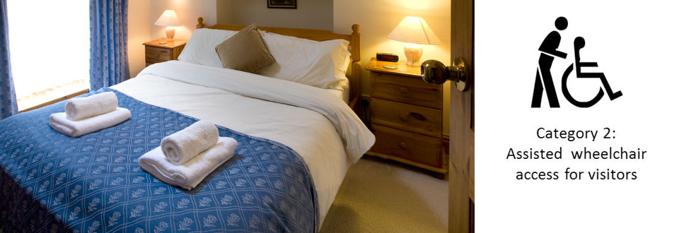 Double Bed in Disabled Friendly Bwthyn Y Saer holiday cottage in South Wales